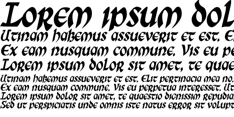 Sample of SunSplashCondensed Italic