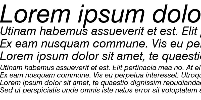 Sample of Swis721 Win95BT Italic