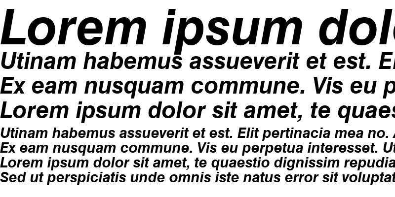 Sample of Swis721Cyrillic BT Bold Italic