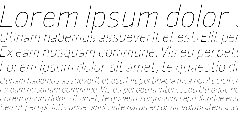 Sample of SylviaLight Italic