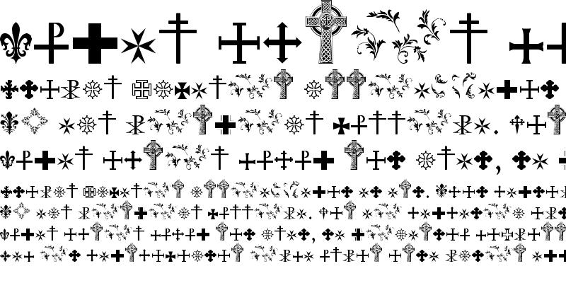 Sample of SymbolCrucifix Regular