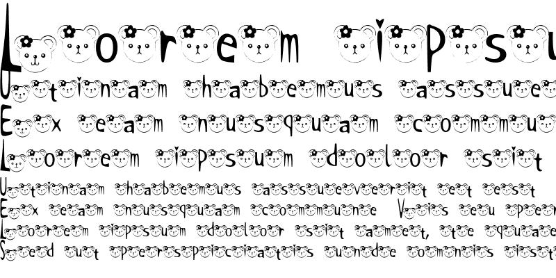 Sample of t-kuma2 Font