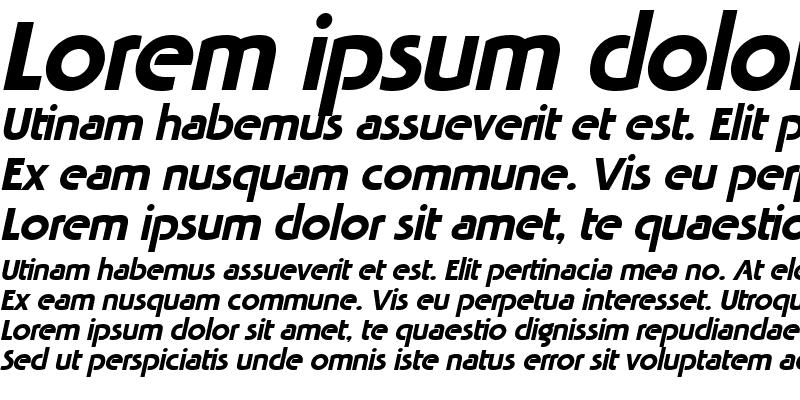 Sample of Tabatha Italic