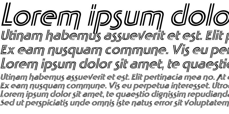 Sample of TabathaFresco Italic