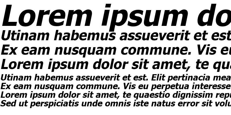 Sample of Tahoma Bold Faux Italic
