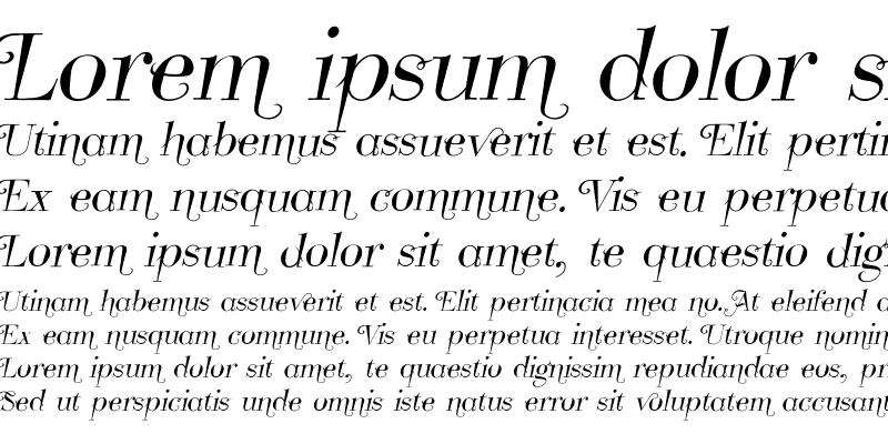 Sample of Take Five Italic Swashes Regular