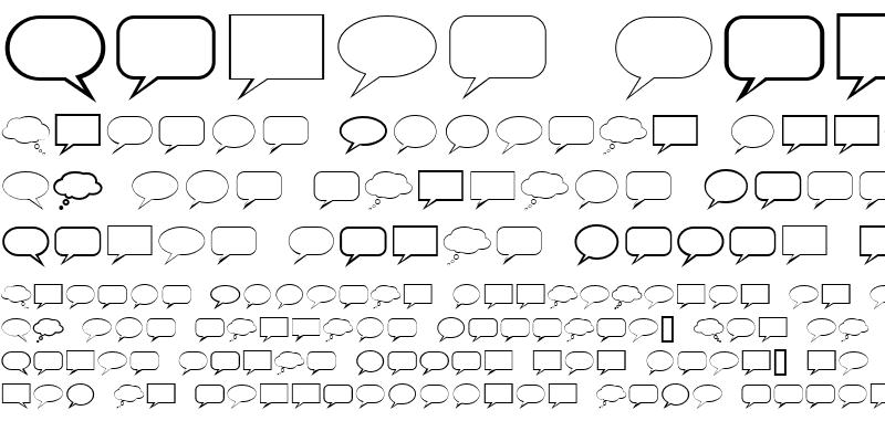 Sample of TalkBalloon Regular