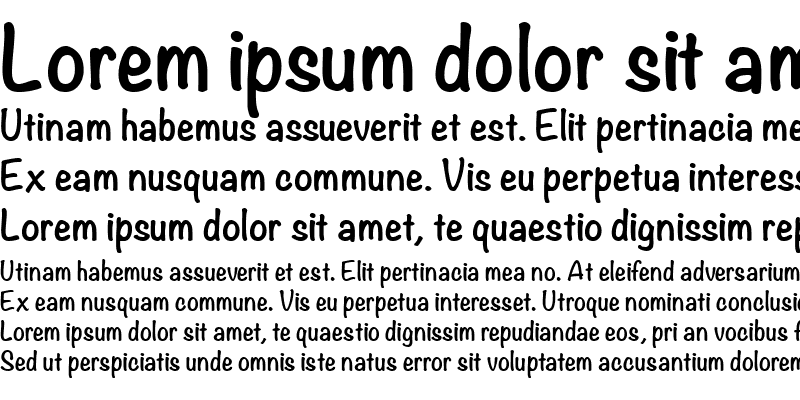 Sample of Tally Text Bold