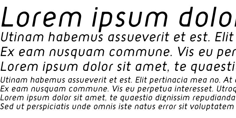 Sample of TargetLight Italic