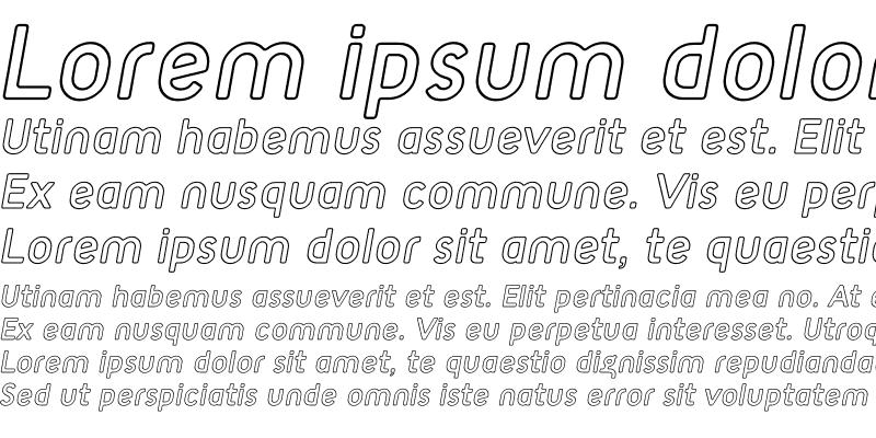 Sample of TargetOpen Italic