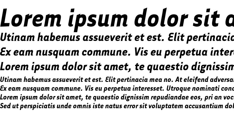 Sample of Tarzana Narrow Bold Italic