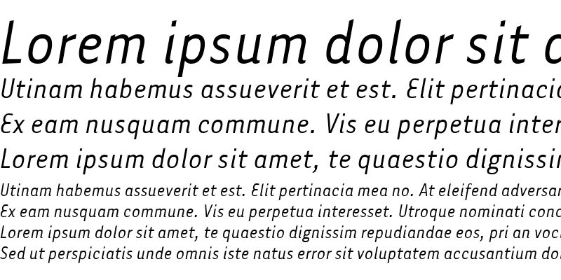 Sample of Tarzana Narrow Italic