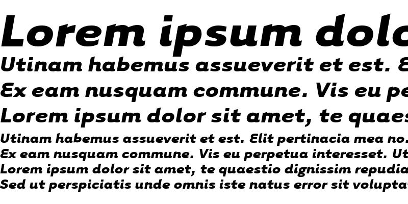 Sample of TarzanaWide Bold Italic