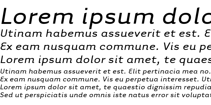 Sample of TarzanaWide Italic