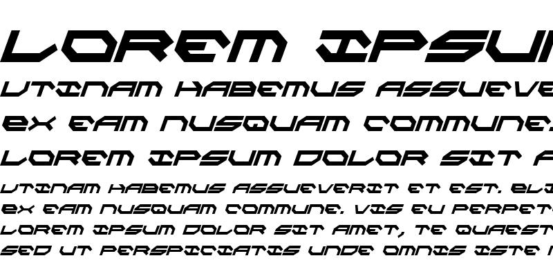 Sample of Taskforce Condensed Italic