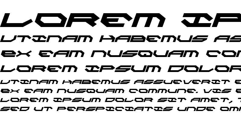 Sample of Taskforce Italic