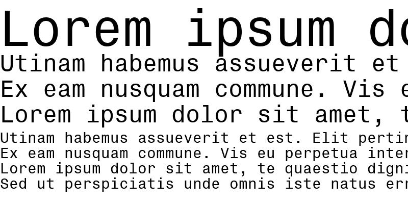 Sample of Te Font New
