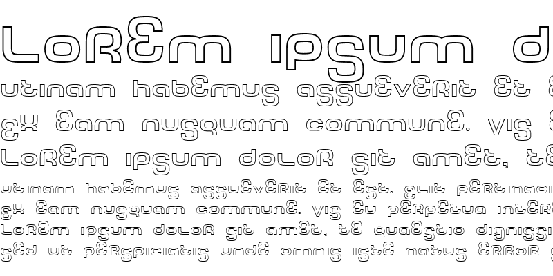 Sample of Tech Font Outline