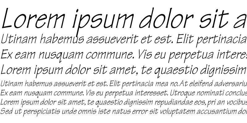 Sample of Tekton Th italic