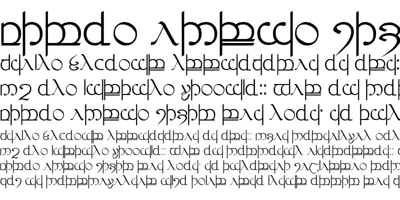 Sample of Tengwar 03 r. # 3