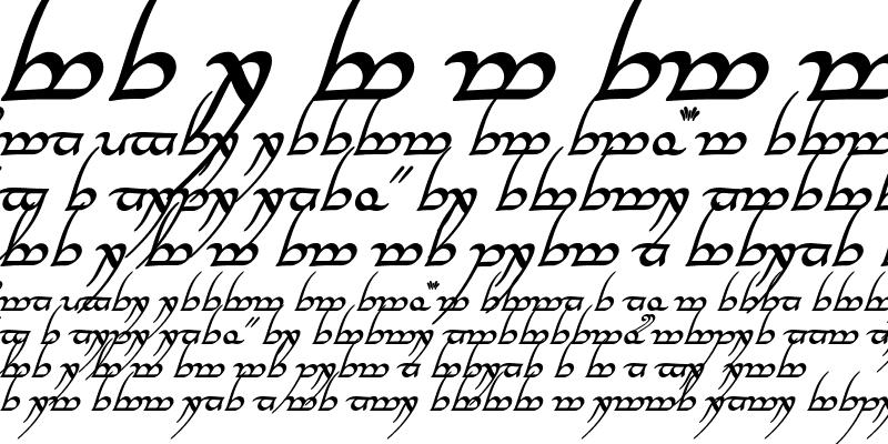 Sample of Tengwar Annatar Alt Bold Italic