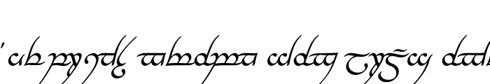Preview of Tengwar Annatar Italic