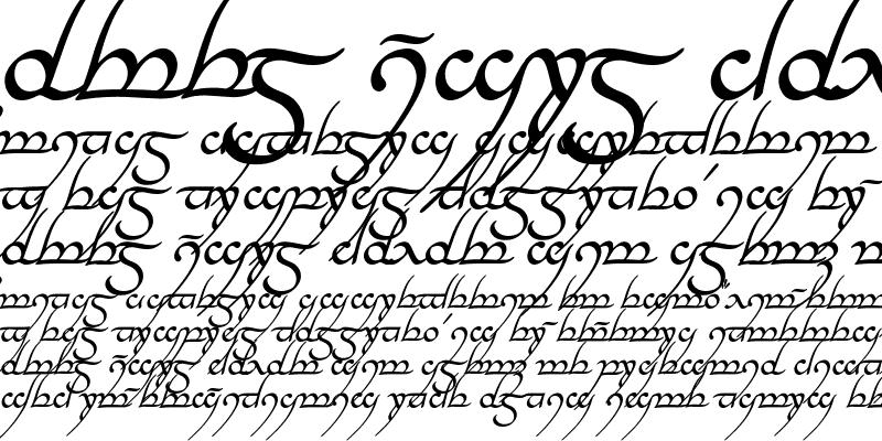 Sample of Tengwar Annatar Italic