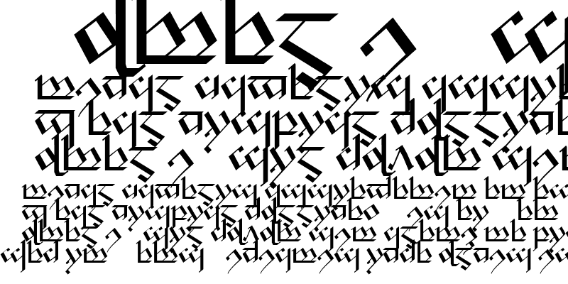 Sample of Tengwar Noldor-1