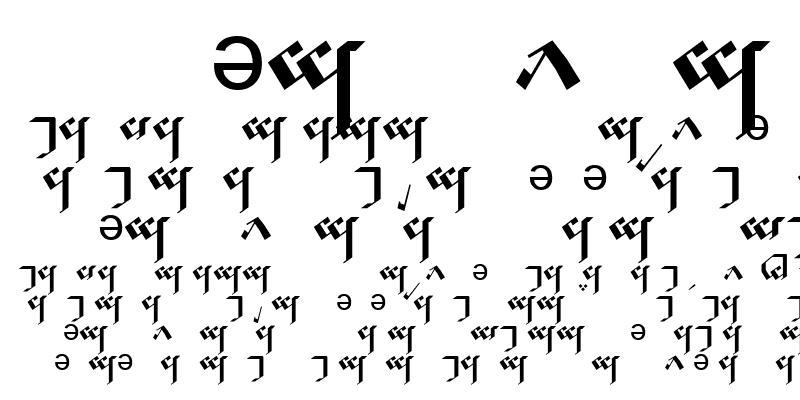 Sample of Tengwar Noldor-A