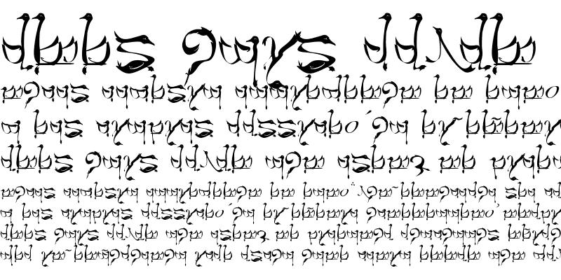 Sample of Tengwar Teleri Regular