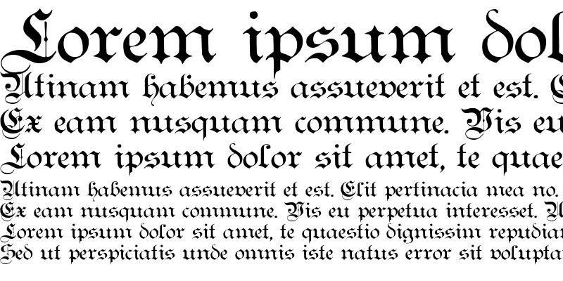 Sample of Teutonic No1