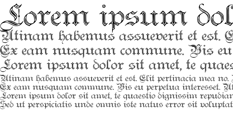 Sample of Teutonic No2 DemiBold