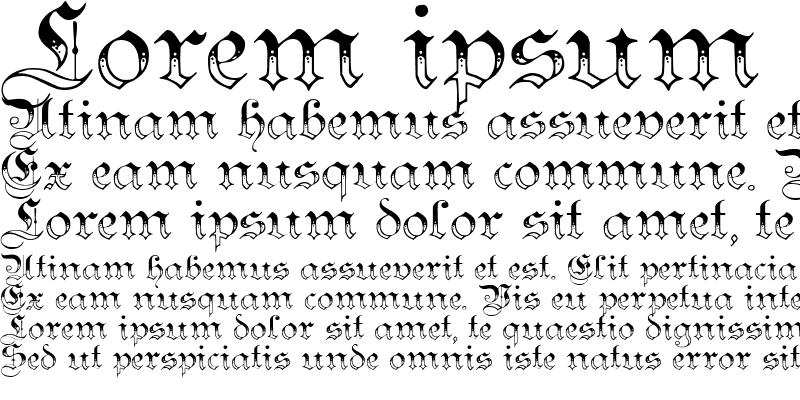 Sample of Teutonic No3