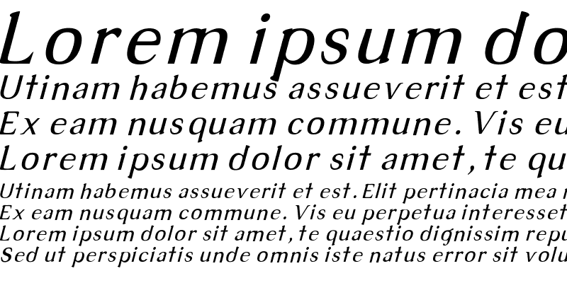 Sample of Tex Italic