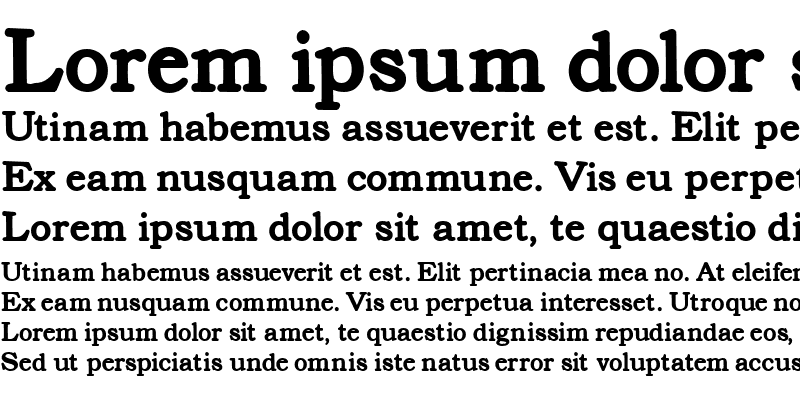Sample of Text Serif Heavier
