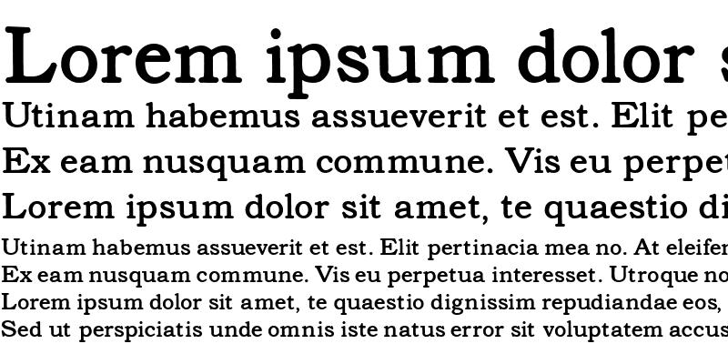 Sample of Text Serif