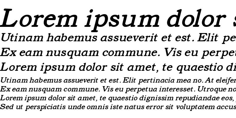 Sample of Text Serif Italic HPLHS