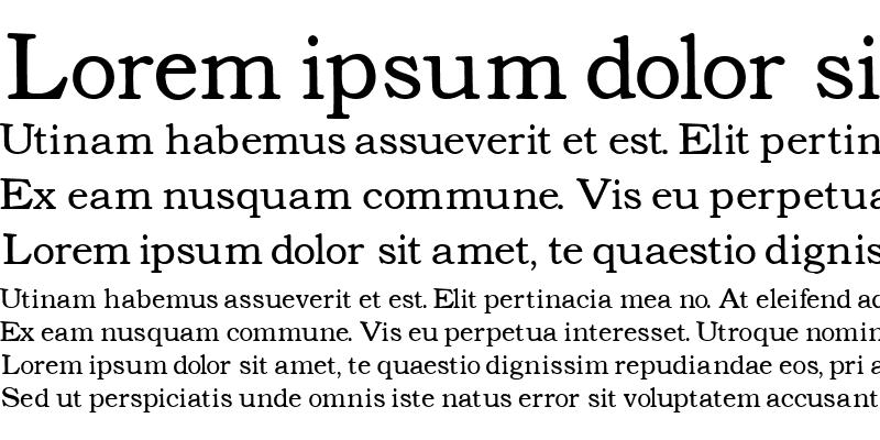 Sample of Text Serif Lighter
