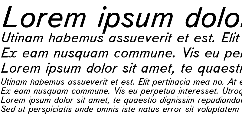 Sample of TextBookC Italic
