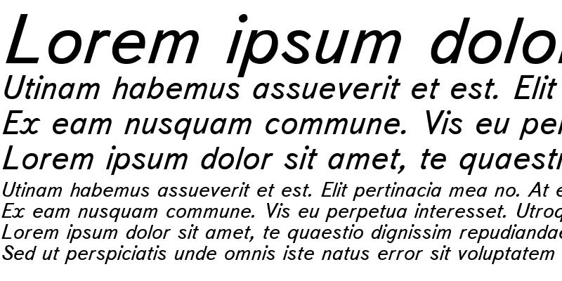 Sample of TextBookCTT Italic