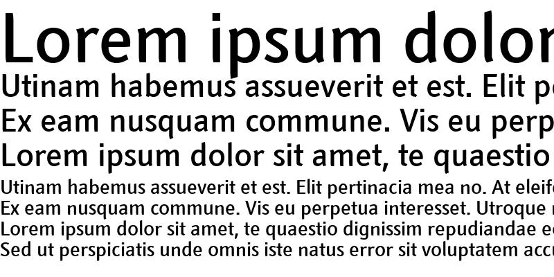 Sample of Textra LT Medium Bold
