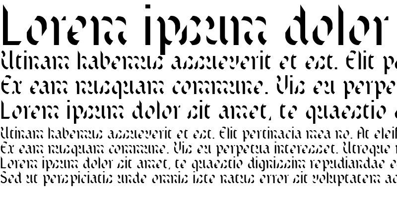 Sample of TextStencil