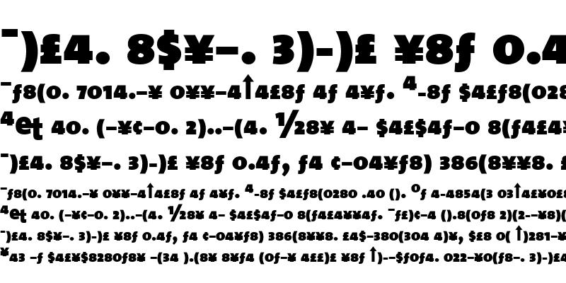 Sample of The Sans Black-