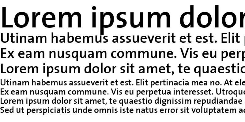 Sample of The Sans Semi Bold-