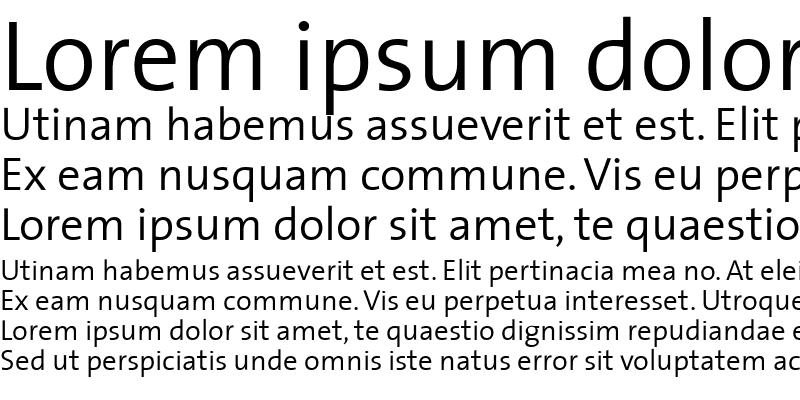 Sample of The Sans Semi Light-