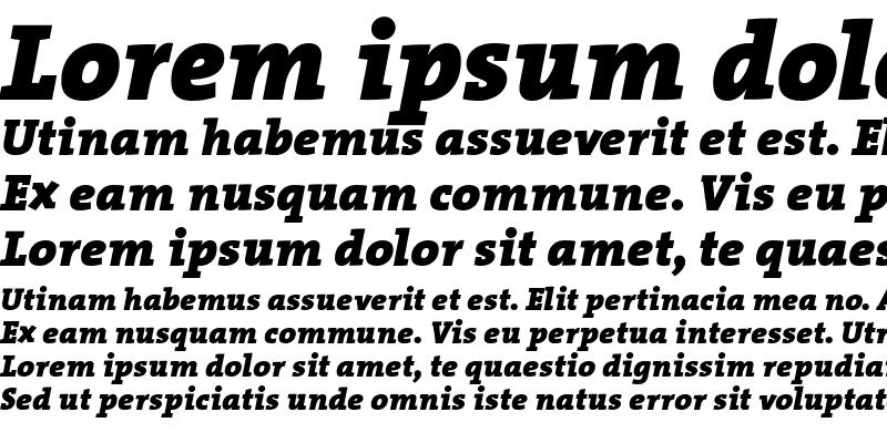 Sample of The Serif Black- Regular