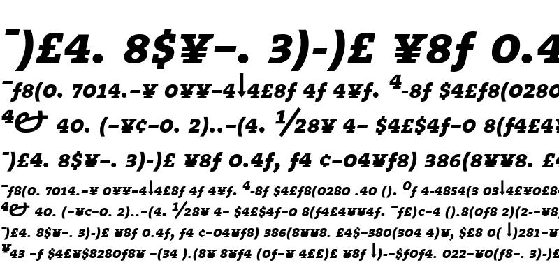 Sample of The Serif Bold-