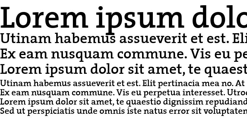 Sample of The Serif Semi Bold-