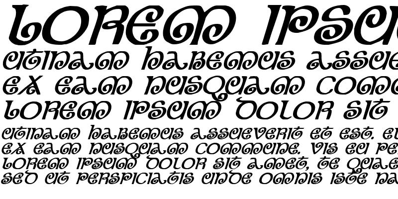 Sample of The Shire Bold Italic