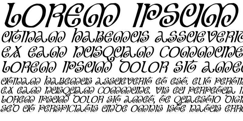 Sample of The Shire Condensed Italic